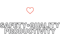 safety quality productivity white no text